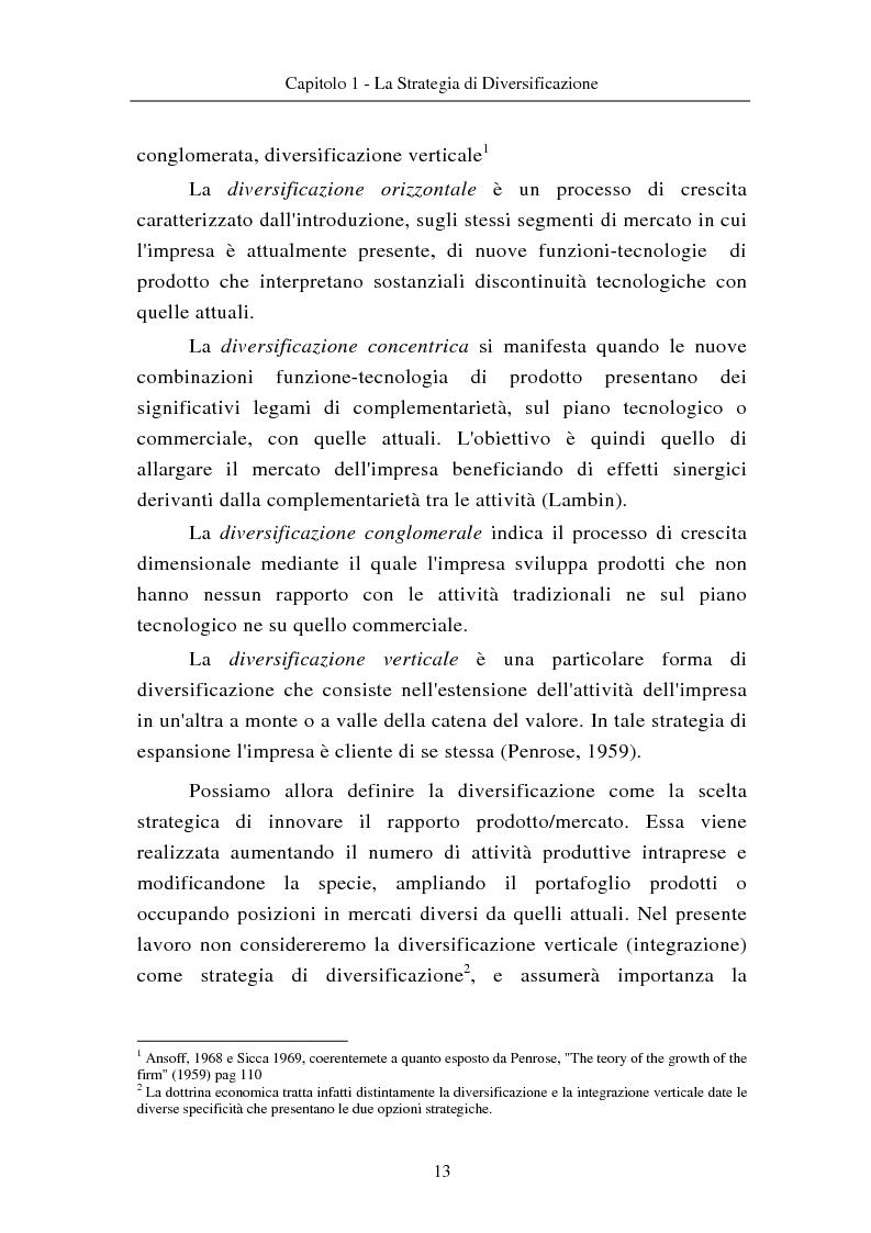 Anteprima della tesi: Le modalità di diversificazione di prodotto nel sistema moda di fascia alta. Un'analisi empirica: il caso italiano Bulgari ed il caso americano Joseph Abboud., Pagina 3