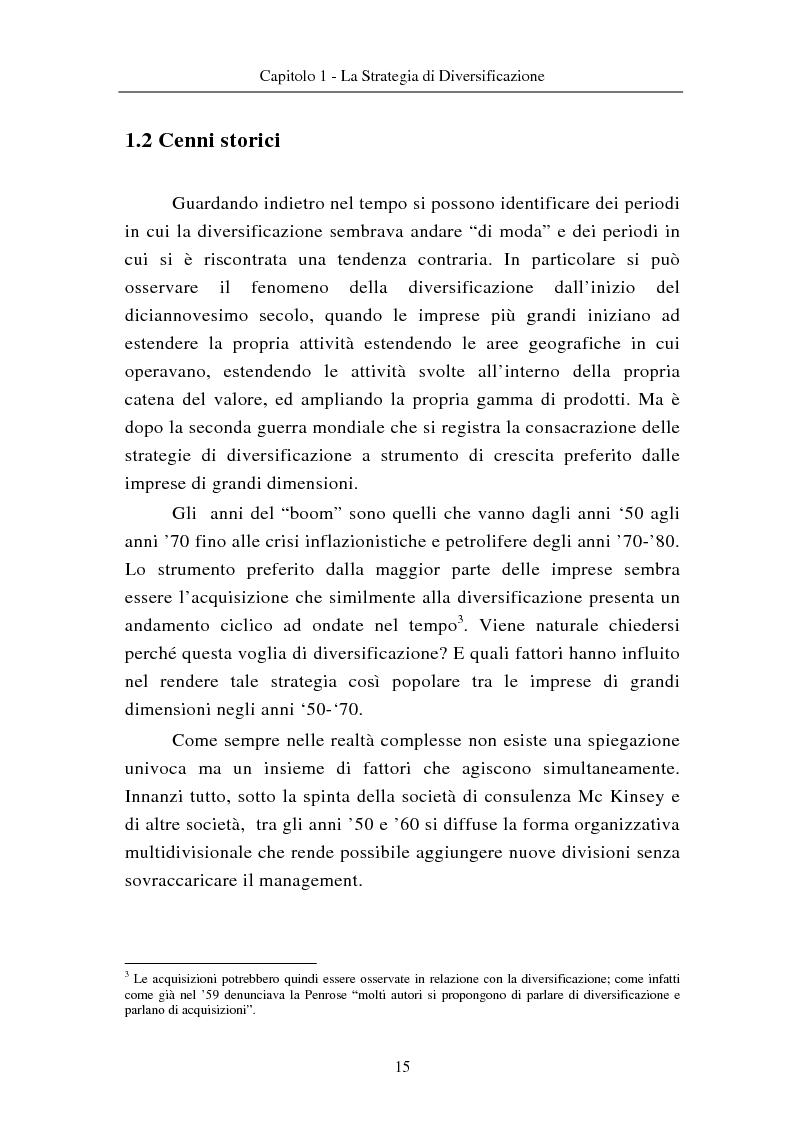 Anteprima della tesi: Le modalità di diversificazione di prodotto nel sistema moda di fascia alta. Un'analisi empirica: il caso italiano Bulgari ed il caso americano Joseph Abboud., Pagina 5