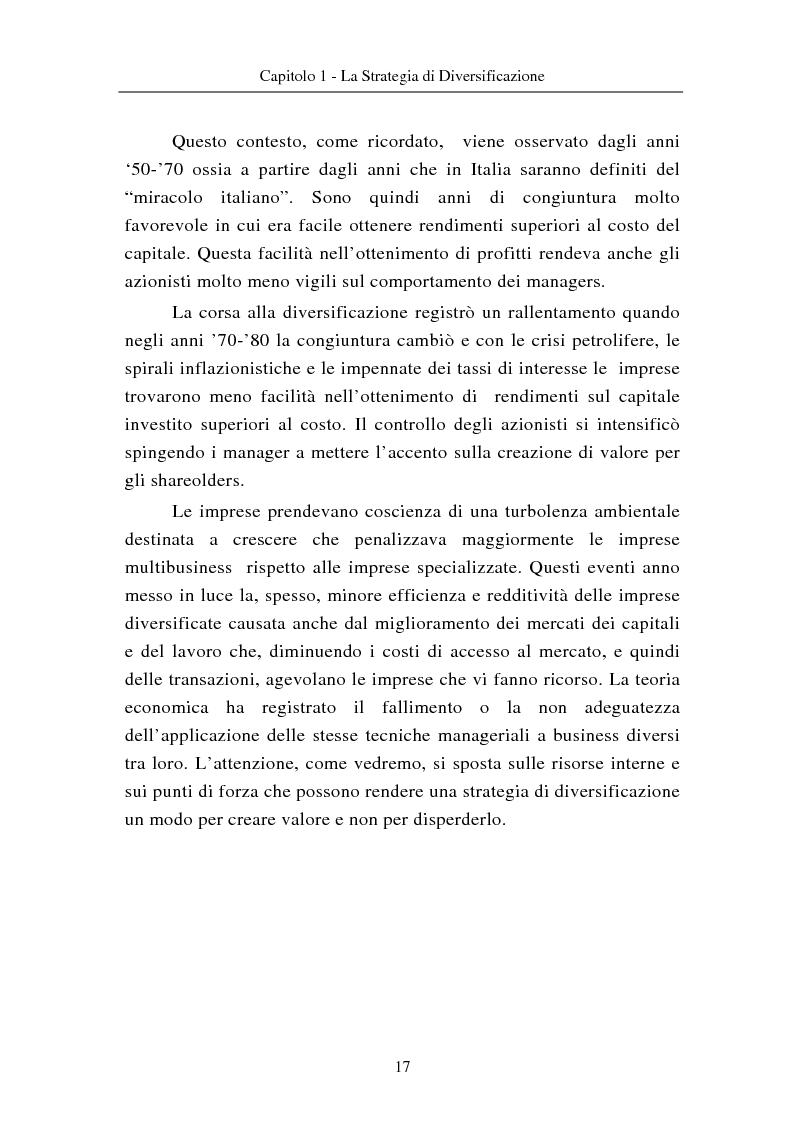 Anteprima della tesi: Le modalità di diversificazione di prodotto nel sistema moda di fascia alta. Un'analisi empirica: il caso italiano Bulgari ed il caso americano Joseph Abboud., Pagina 7
