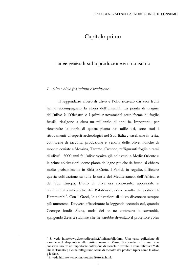 Anteprima della tesi: La Riforma dell'OCM Olio di Oliva, Pagina 1