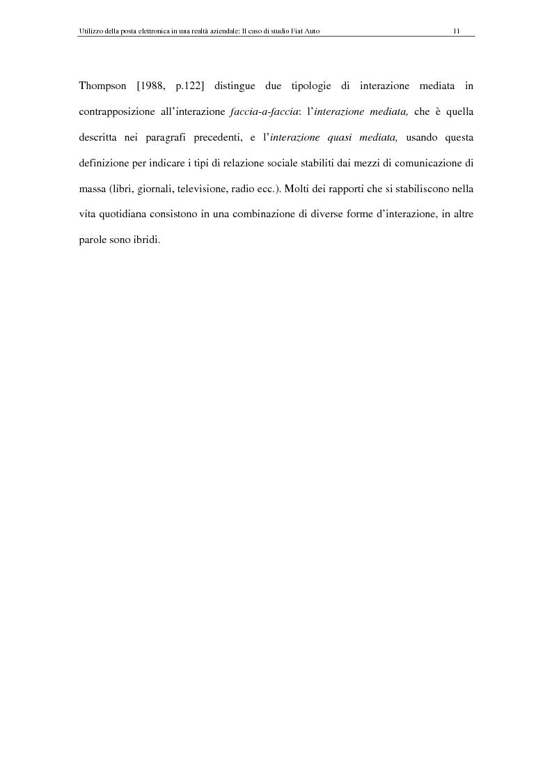 Anteprima della tesi: La Comunicazione Mediata da Computer (CMC) - Un caso di studio: utilizzo della posta elettronica in Fiat Auto, Pagina 11