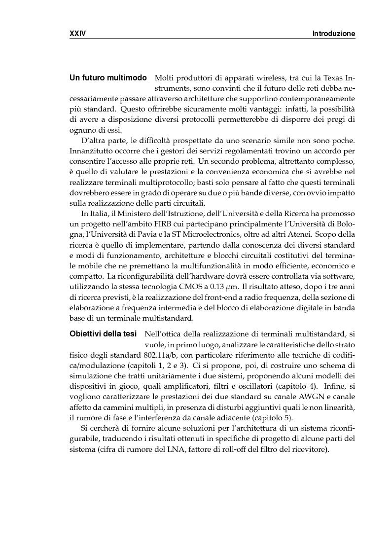 Anteprima della tesi: Simulazione dei protocolli wireless LAN IEEE 802.11a e 802.11b, Pagina 3