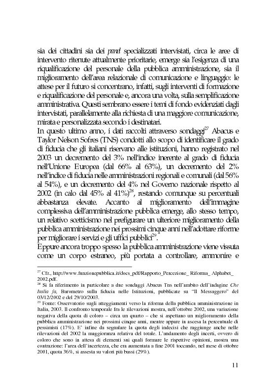 Anteprima della tesi: Il marketing e la comunicazione nella pubblica amministrazione che cambia. Il caso dei Servizi per l'Impiego, Pagina 11