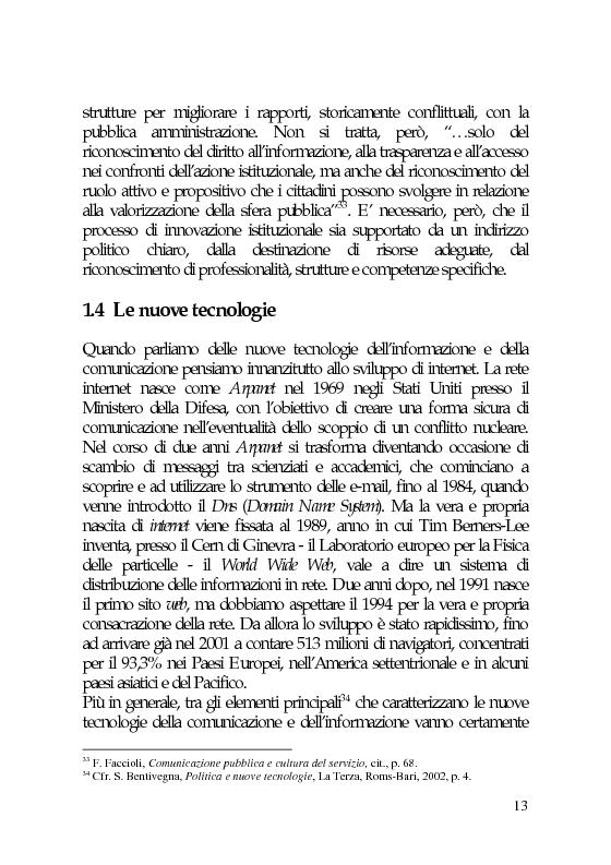 Anteprima della tesi: Il marketing e la comunicazione nella pubblica amministrazione che cambia. Il caso dei Servizi per l'Impiego, Pagina 13