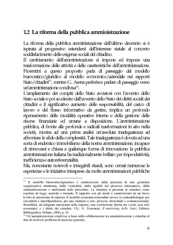 Anteprima della tesi: Il marketing e la comunicazione nella pubblica amministrazione che cambia. Il caso dei Servizi per l'Impiego, Pagina 6