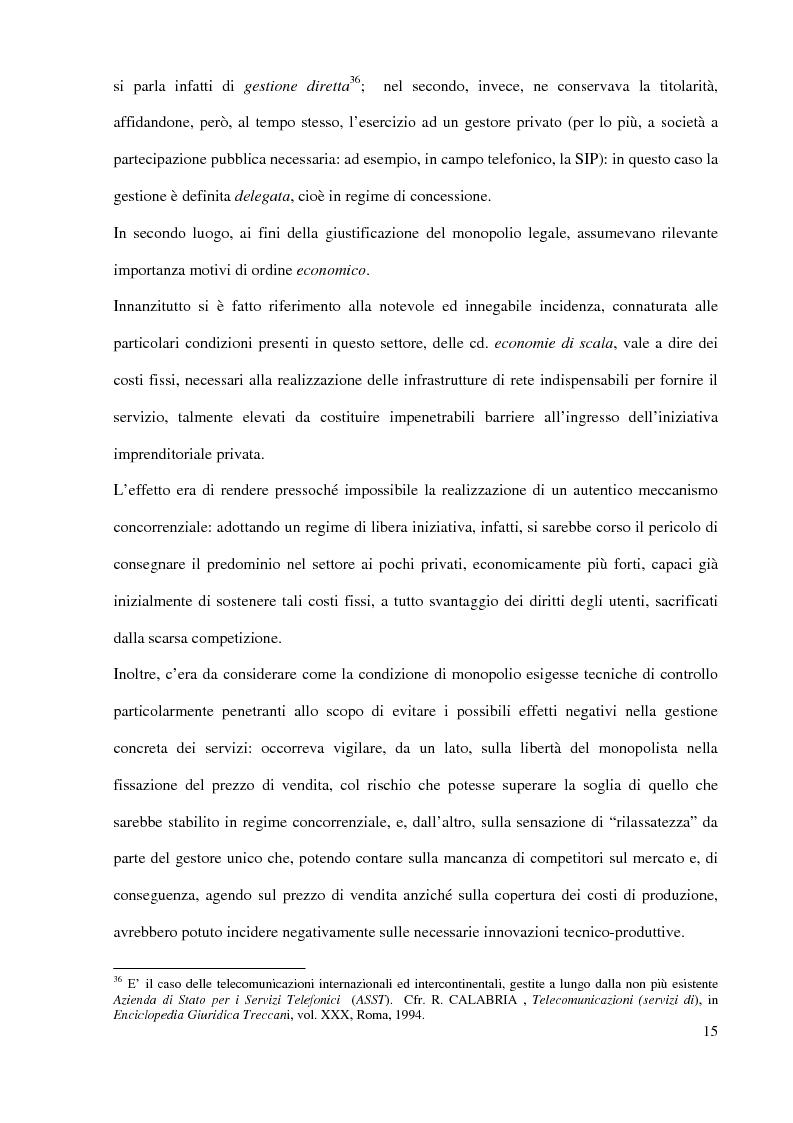 Anteprima della tesi: L'Autorità per le garanzie nelle comunicazioni dopo le Direttive 2002, Pagina 15