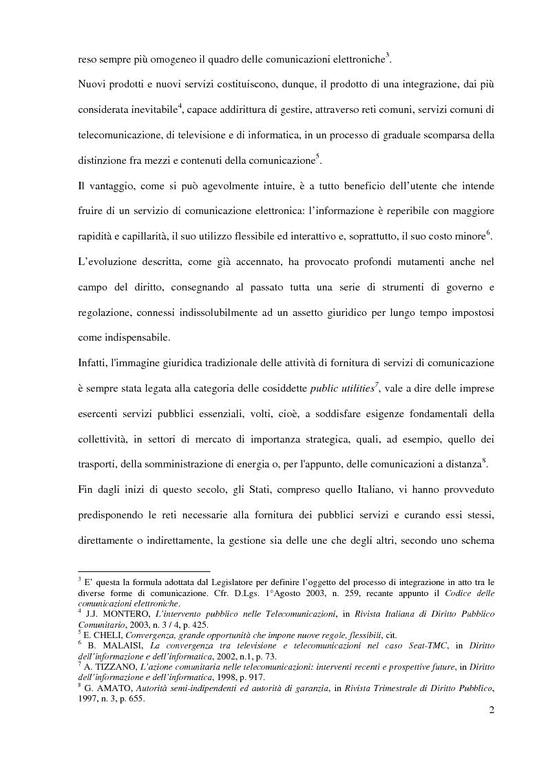 Anteprima della tesi: L'Autorità per le garanzie nelle comunicazioni dopo le Direttive 2002, Pagina 2