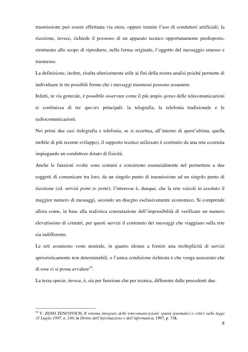 Anteprima della tesi: L'Autorità per le garanzie nelle comunicazioni dopo le Direttive 2002, Pagina 8