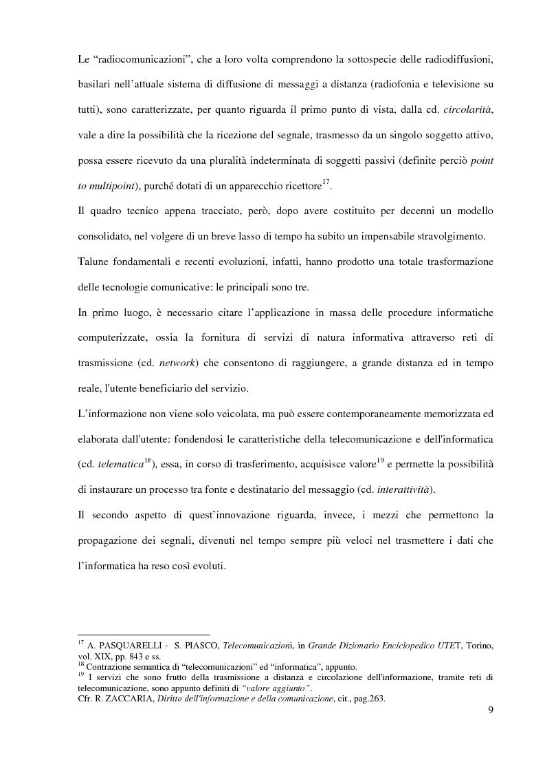 Anteprima della tesi: L'Autorità per le garanzie nelle comunicazioni dopo le Direttive 2002, Pagina 9