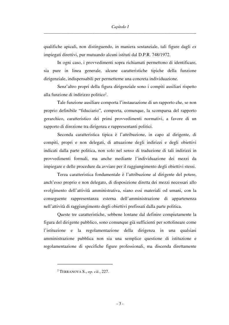 Anteprima della tesi: La dirigenza nell'ente locale: evoluzione legislativa, funzioni e responsabilità, Pagina 3