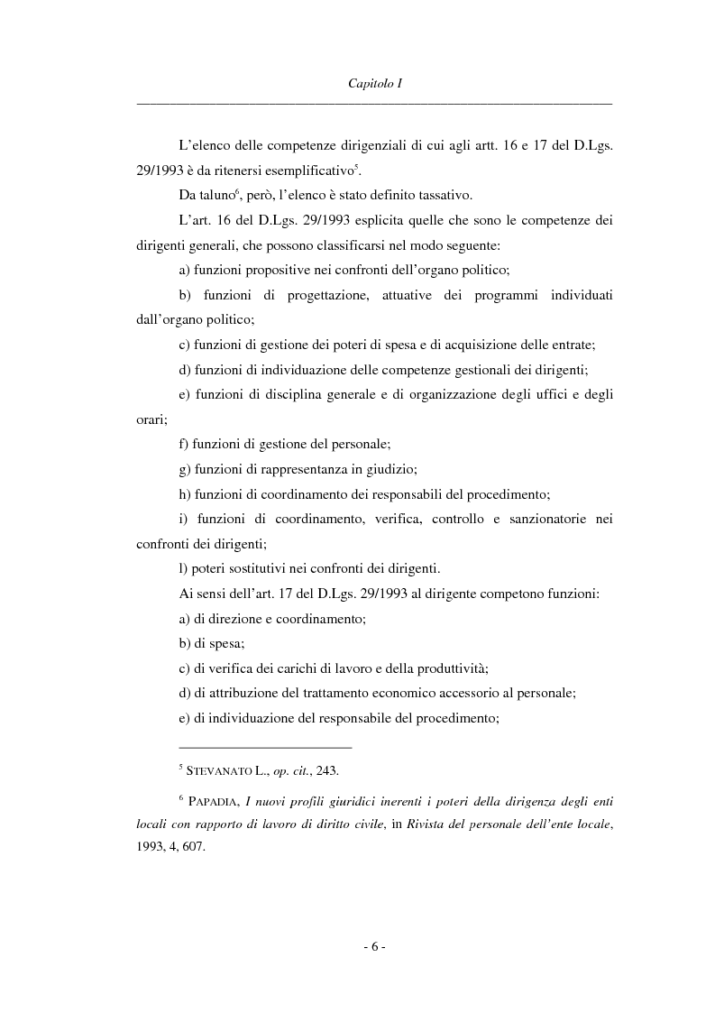 Anteprima della tesi: La dirigenza nell'ente locale: evoluzione legislativa, funzioni e responsabilità, Pagina 6
