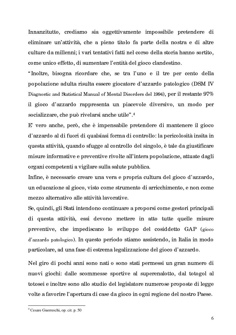 Anteprima della tesi: La patologia del gioco d'azzardo nell'età moderna. L'informazione come cura, Pagina 6