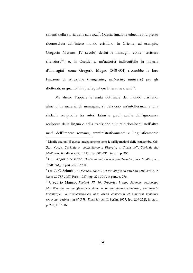 Anteprima della tesi: I Libri Carolini (Opus Caroli regis contra synodum) e la Storia della Filosofia, Pagina 11