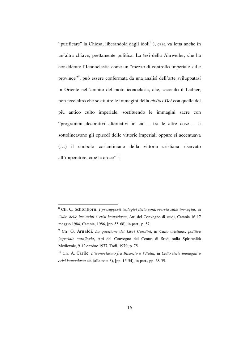 Anteprima della tesi: I Libri Carolini (Opus Caroli regis contra synodum) e la Storia della Filosofia, Pagina 13