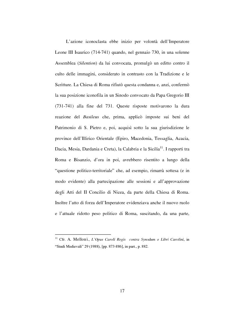 Anteprima della tesi: I Libri Carolini (Opus Caroli regis contra synodum) e la Storia della Filosofia, Pagina 14