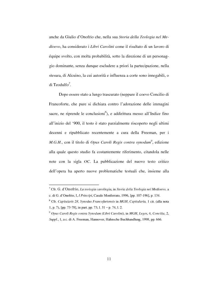 Anteprima della tesi: I Libri Carolini (Opus Caroli regis contra synodum) e la Storia della Filosofia, Pagina 8