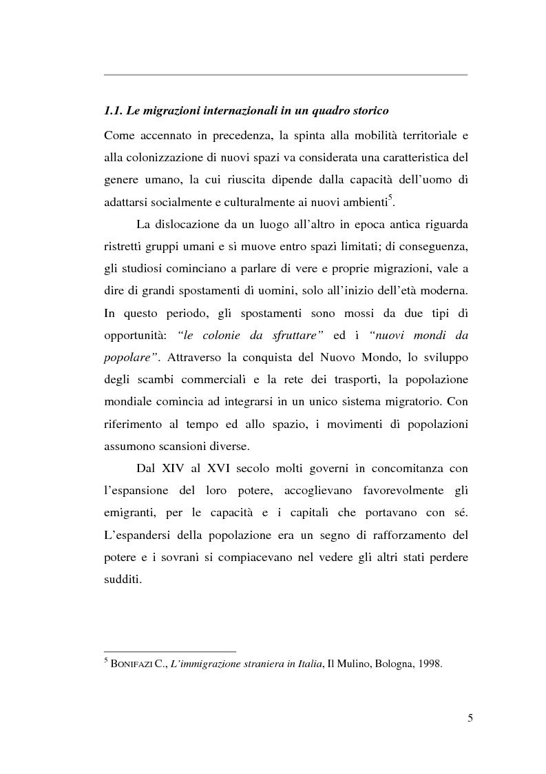 Anteprima della tesi: Livelli di integrazione della popolazione straniera in Italia, Pagina 5