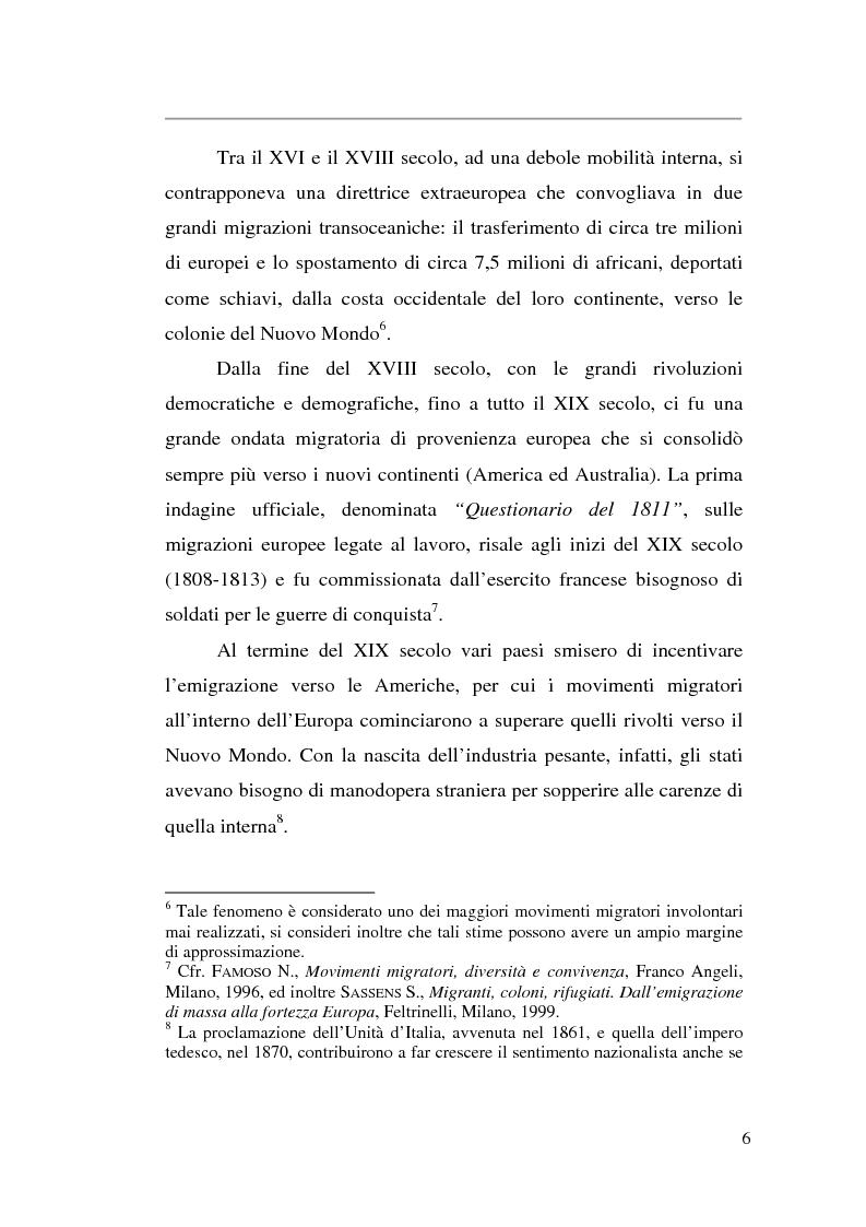 Anteprima della tesi: Livelli di integrazione della popolazione straniera in Italia, Pagina 6