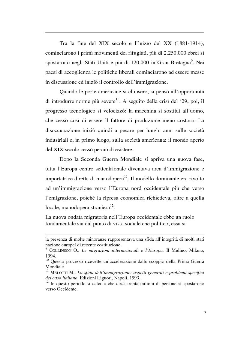 Anteprima della tesi: Livelli di integrazione della popolazione straniera in Italia, Pagina 7