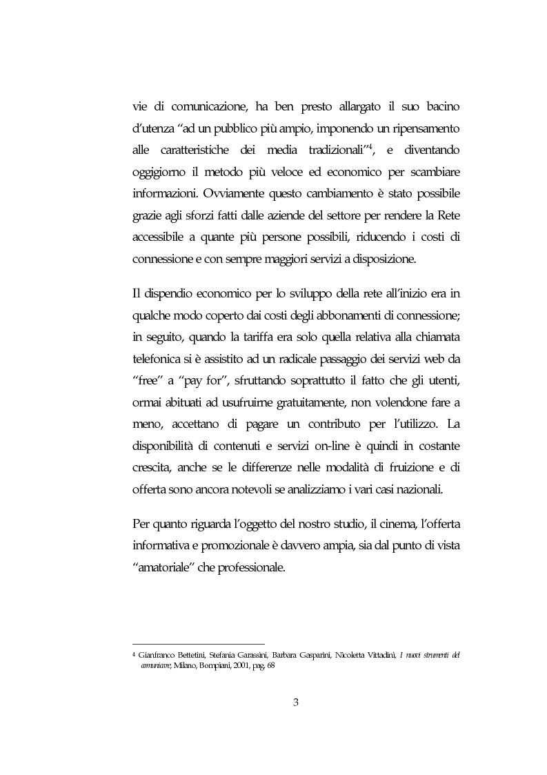 Anteprima della tesi: L'analisi della comunicazione promozionale su Internet a supporto di eventi cinematografici: Il caso de Il Signore degli Anelli, Pagina 3