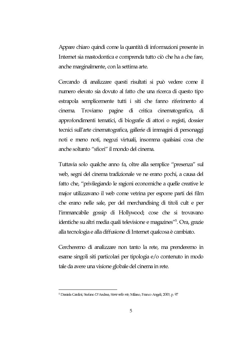 Anteprima della tesi: L'analisi della comunicazione promozionale su Internet a supporto di eventi cinematografici: Il caso de Il Signore degli Anelli, Pagina 5