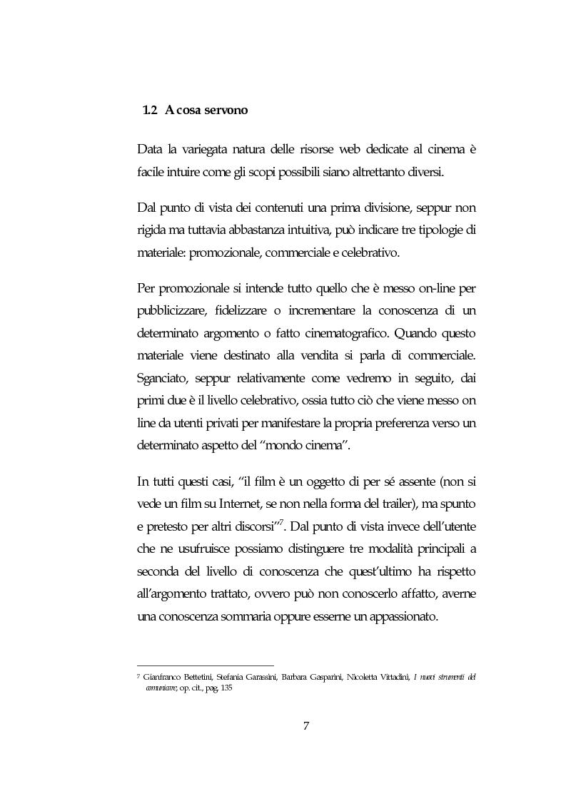 Anteprima della tesi: L'analisi della comunicazione promozionale su Internet a supporto di eventi cinematografici: Il caso de Il Signore degli Anelli, Pagina 7