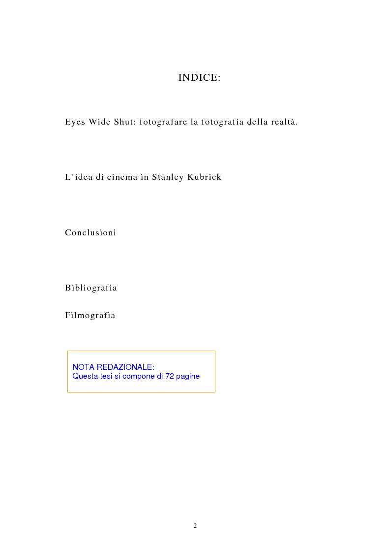 Indice della tesi: Eyes Wide Shut: fotografare la fotografia della realtà, Pagina 1
