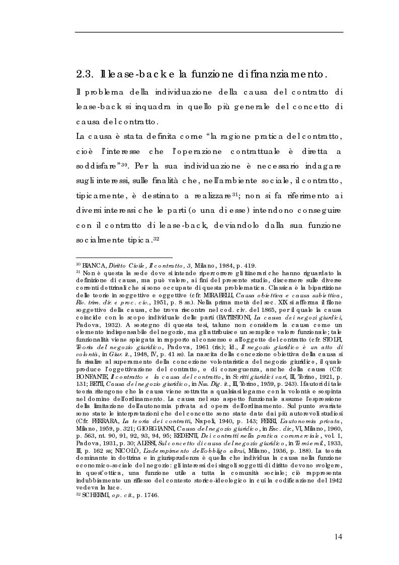 Anteprima della tesi: Sale and lease-back e divieto del patto comissorio, Pagina 14