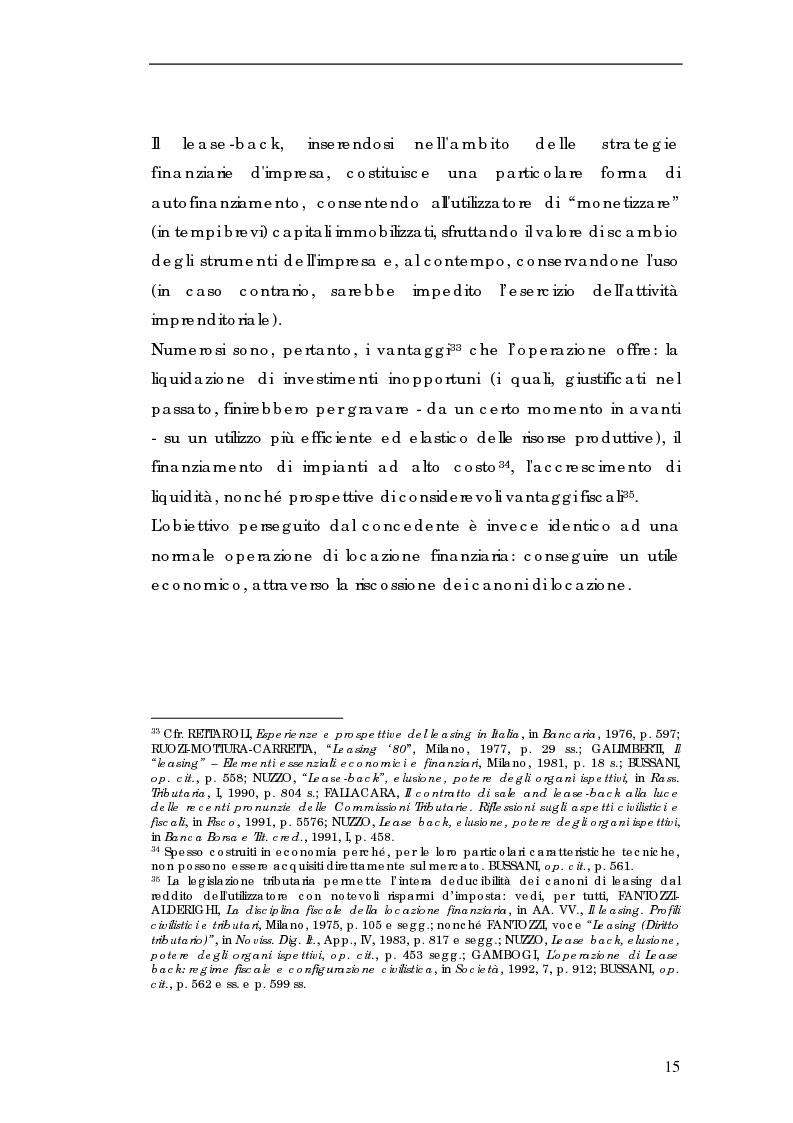 Anteprima della tesi: Sale and lease-back e divieto del patto comissorio, Pagina 15