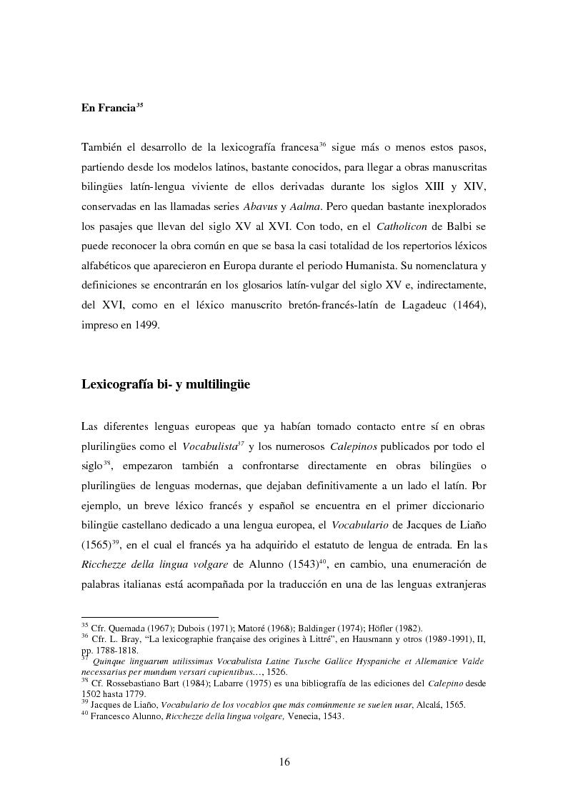 Anteprima della tesi: La Nomenclatura Italiana, francesa y española de Guillaime Alexandre de Noviliers Clavel. Estudio, Pagina 10