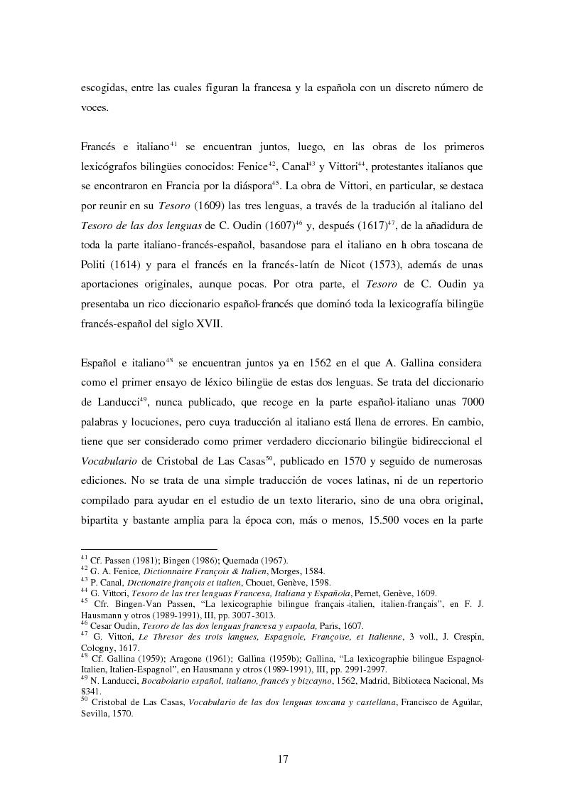 Anteprima della tesi: La Nomenclatura Italiana, francesa y española de Guillaime Alexandre de Noviliers Clavel. Estudio, Pagina 11