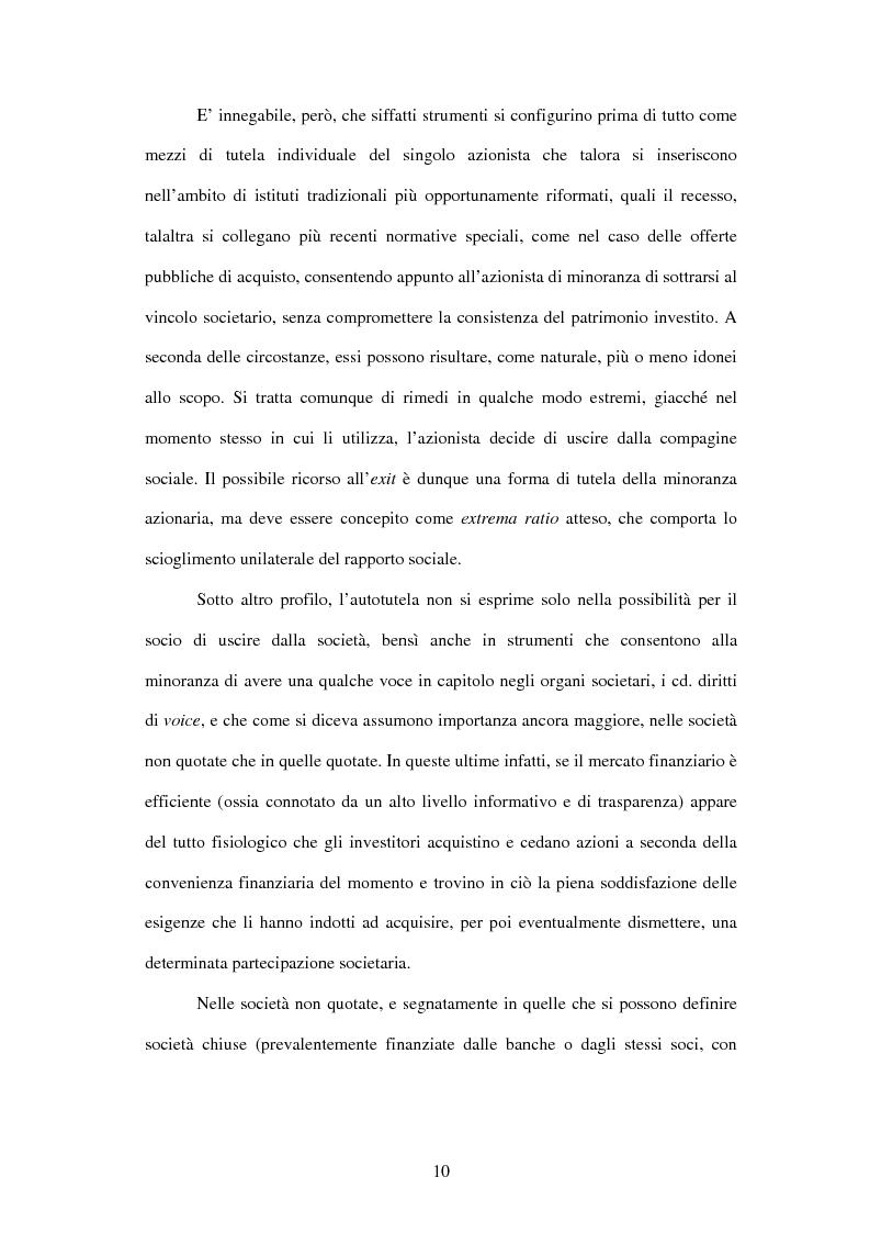 Anteprima della tesi: Tutela delle minoranze: azione sociale di responsabilità, Pagina 10