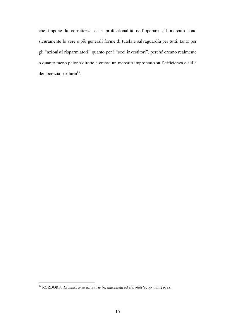 Anteprima della tesi: Tutela delle minoranze: azione sociale di responsabilità, Pagina 15