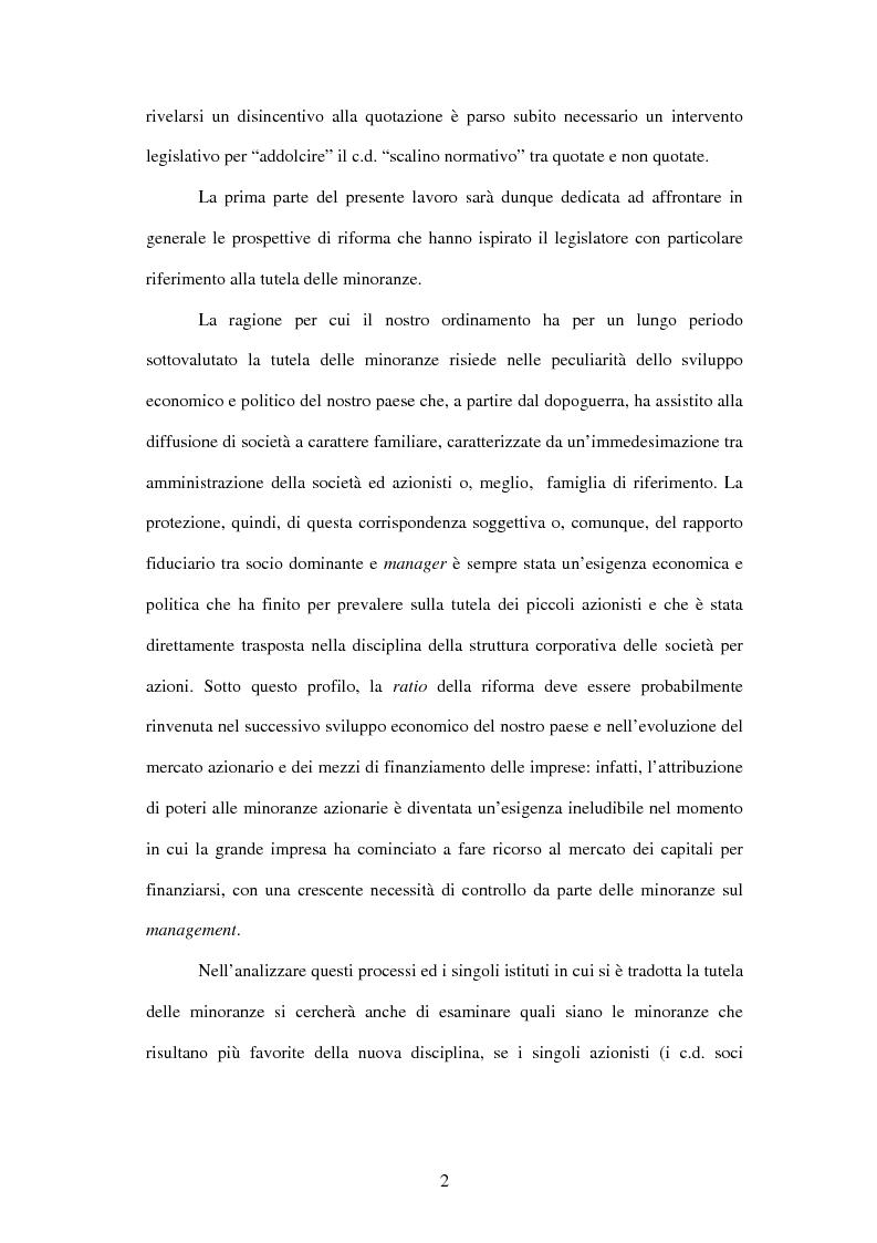 Anteprima della tesi: Tutela delle minoranze: azione sociale di responsabilità, Pagina 2