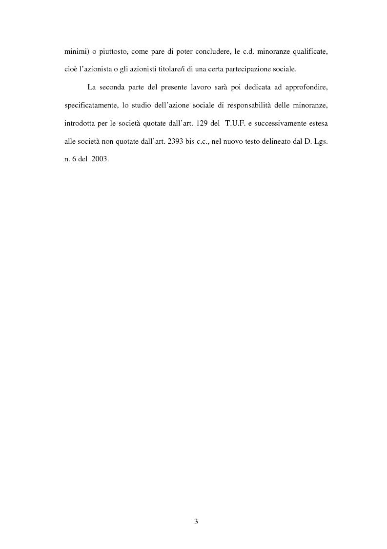Anteprima della tesi: Tutela delle minoranze: azione sociale di responsabilità, Pagina 3