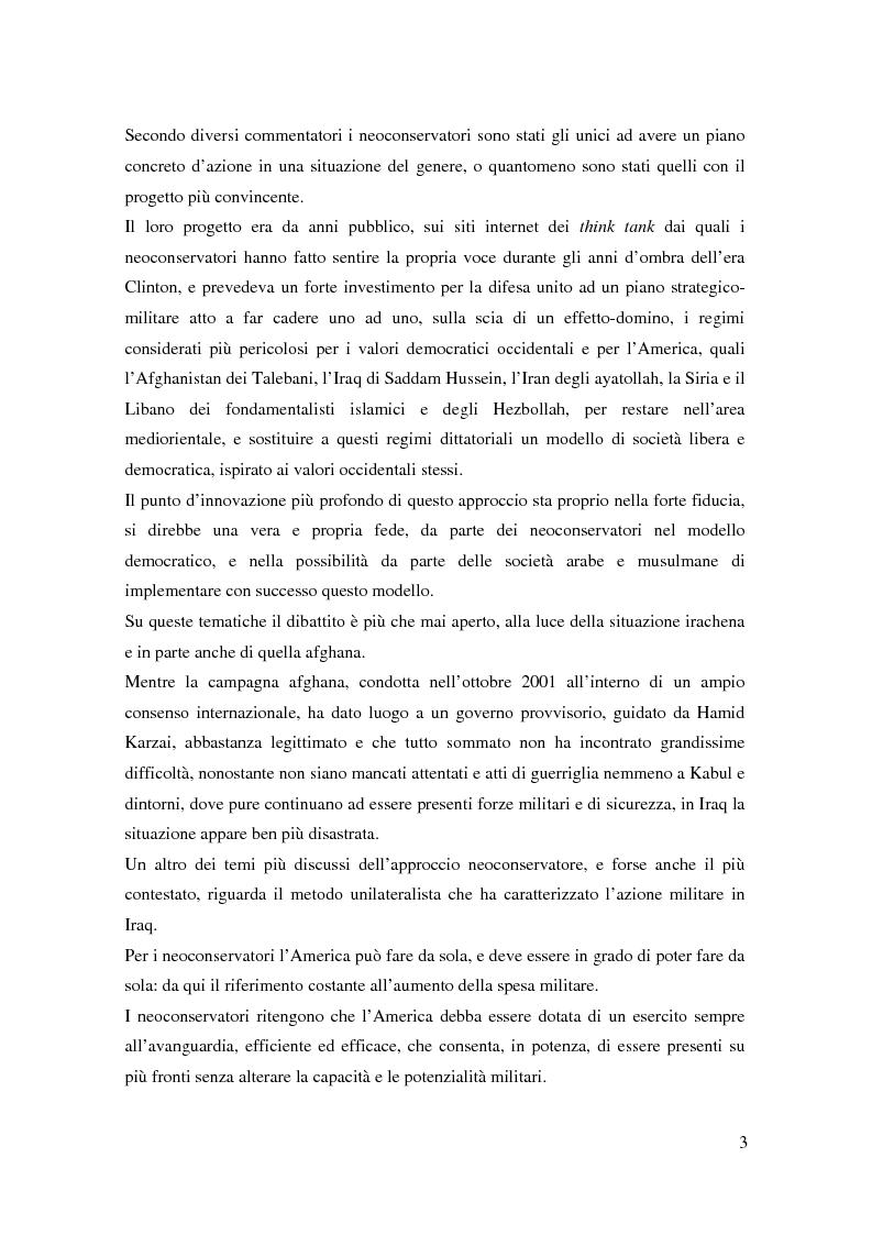 Anteprima della tesi: I neoconservatori americani: analisi del movimento culturale e delle prospettive politiche, Pagina 3