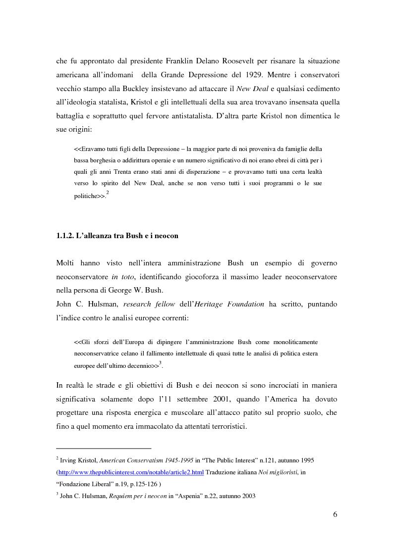 Anteprima della tesi: I neoconservatori americani: analisi del movimento culturale e delle prospettive politiche, Pagina 6