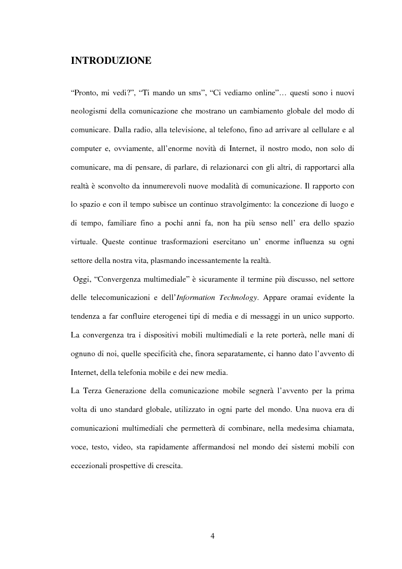 Anteprima della tesi: UMTS: la convergenza multimediale... il futuro attraverso il passato, Pagina 1