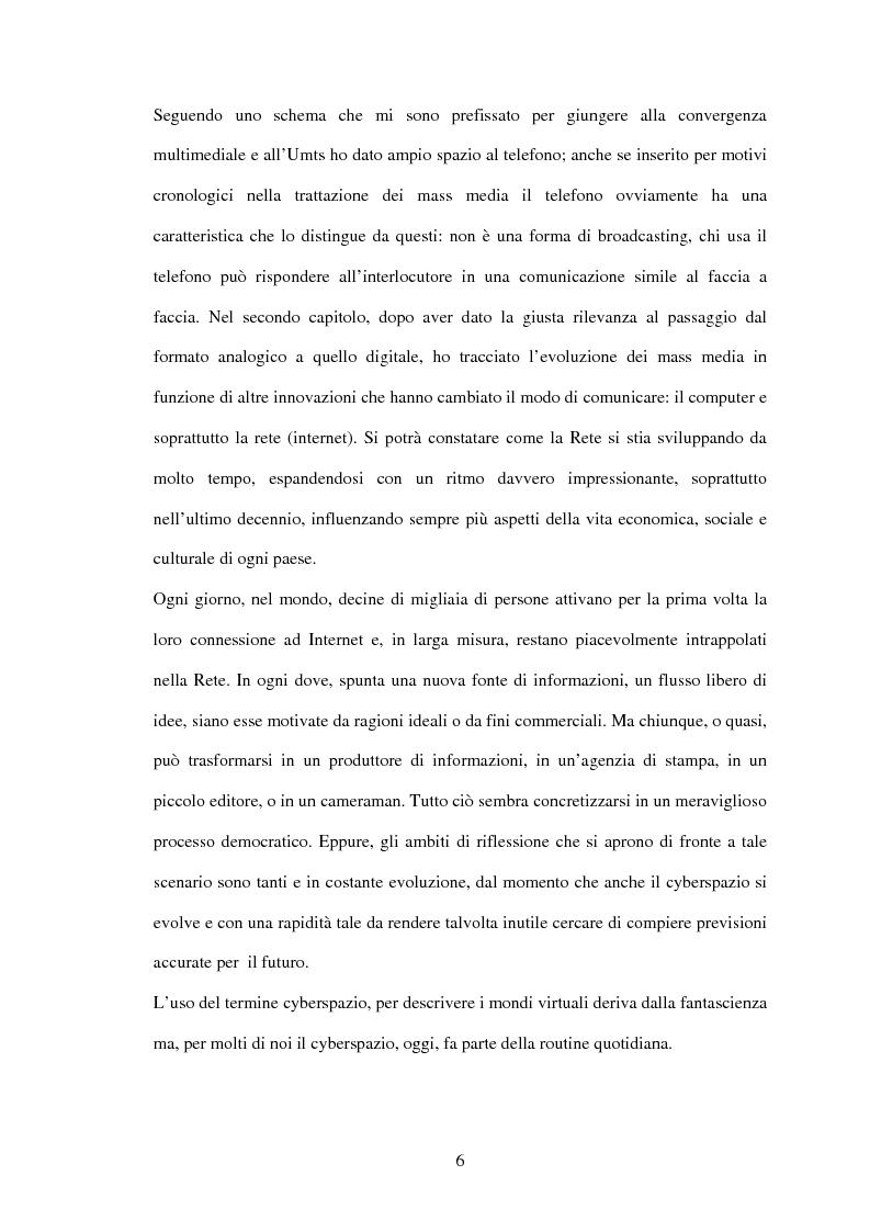Anteprima della tesi: UMTS: la convergenza multimediale... il futuro attraverso il passato, Pagina 3