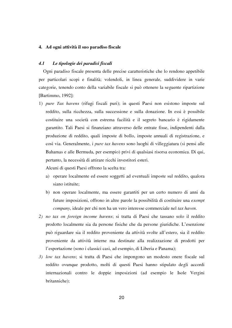 Estratto dalla tesi: Paradisi fiscali e centri finanziari offshore: uso e abuso nei casi Parmalat ed Enron
