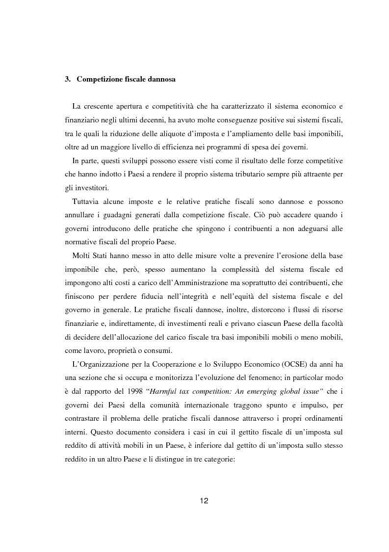 Anteprima della tesi: Paradisi fiscali e centri finanziari offshore: uso e abuso nei casi Parmalat ed Enron, Pagina 12
