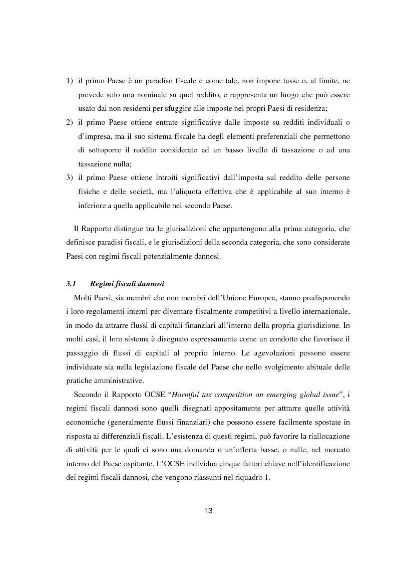 Anteprima della tesi: Paradisi fiscali e centri finanziari offshore: uso e abuso nei casi Parmalat ed Enron, Pagina 13