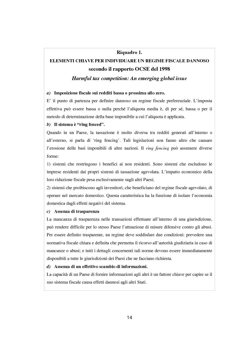 Anteprima della tesi: Paradisi fiscali e centri finanziari offshore: uso e abuso nei casi Parmalat ed Enron, Pagina 14