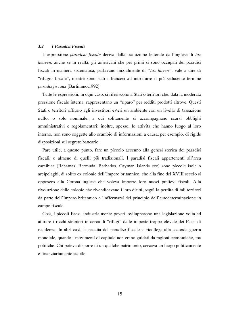Anteprima della tesi: Paradisi fiscali e centri finanziari offshore: uso e abuso nei casi Parmalat ed Enron, Pagina 15