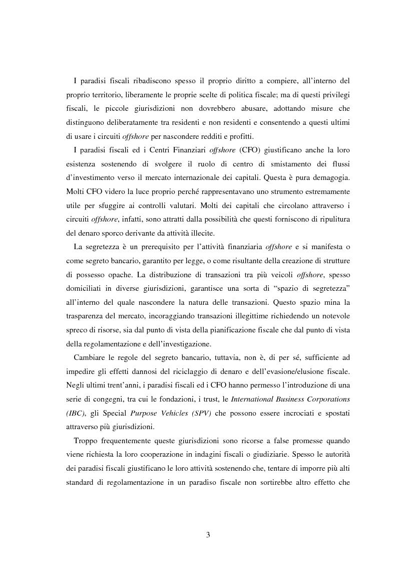 Anteprima della tesi: Paradisi fiscali e centri finanziari offshore: uso e abuso nei casi Parmalat ed Enron, Pagina 3