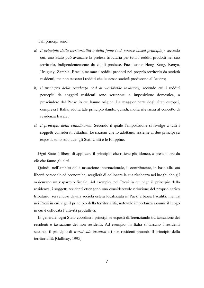 Anteprima della tesi: Paradisi fiscali e centri finanziari offshore: uso e abuso nei casi Parmalat ed Enron, Pagina 7