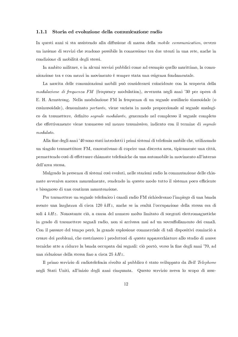 Anteprima della tesi: Misura del rapporto segnale/interferenza co-canale nei sistemi di telefonia cellulare, Pagina 3