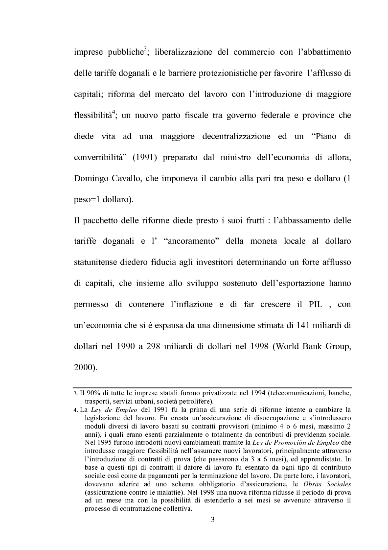 Anteprima della tesi: Dinamiche dello sviluppo in Argentina (1990-2000): relativi problemi di misurazione e proposte, Pagina 2