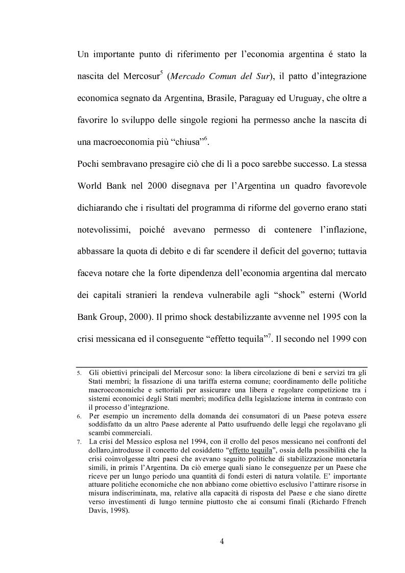 Anteprima della tesi: Dinamiche dello sviluppo in Argentina (1990-2000): relativi problemi di misurazione e proposte, Pagina 3