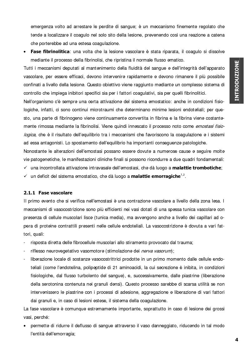 Anteprima della tesi: Malattia di von Willebrand: Espressione in vitro di varianti molecolari di tipo 2B e valutazione della interazione con la glicoproteina Ib, recettore piastrinico specifico del fattore di von Willebrand, Pagina 4